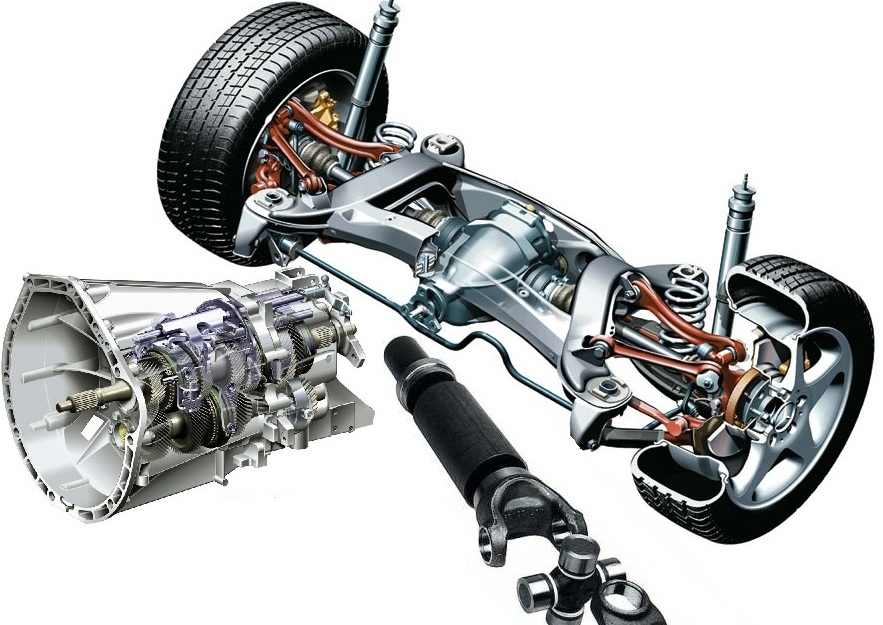 Подвеска - привод - трансмиссия W204