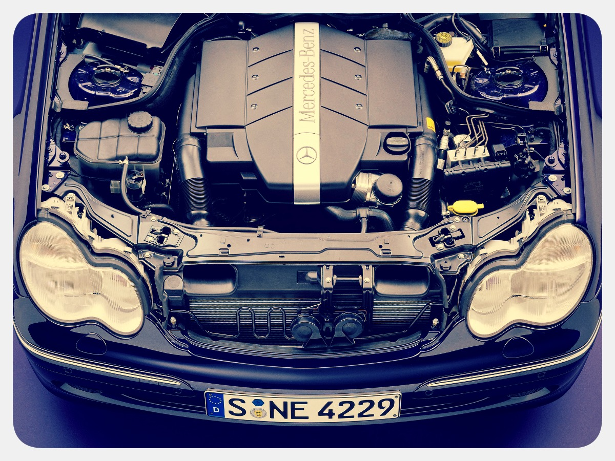 Двигатель,системы и компоненты W203
