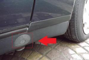 Заглушка  гнездо крепления домкрата  для Mercedes w202/w208/w210 0