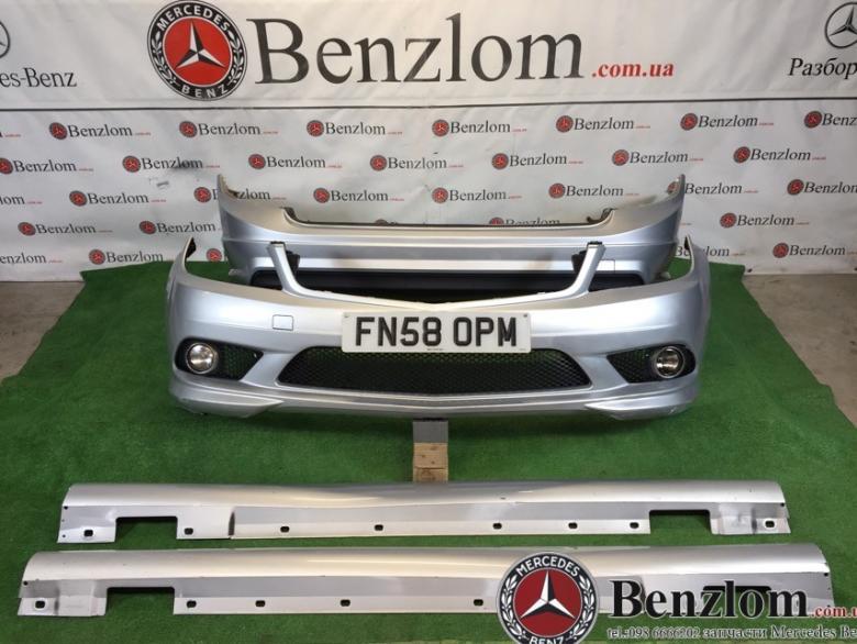Бампера и пороги, комплект обвеса AMG для Mercedes C-Class W204/2