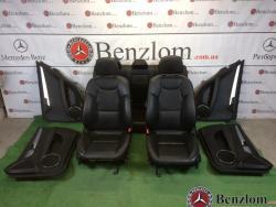 Салон кожаный чёрный комплект седан для Mercedes C-Class W204/1