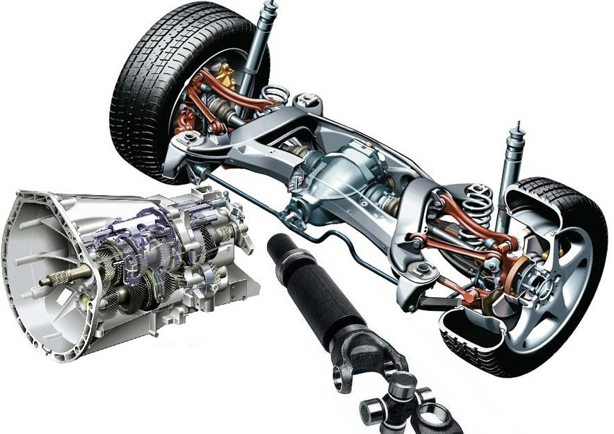 Подвеска - привод - трансмиссия W168